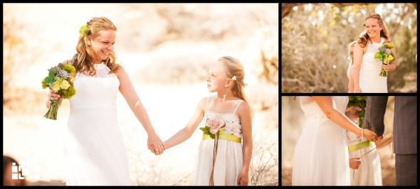 Bride down the aisle - Wedding Details - Joshua Tree California Elopment