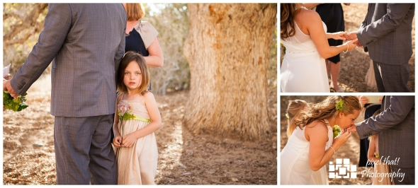 At the Altar - Wedding Details - Joshua Tree California Elopment