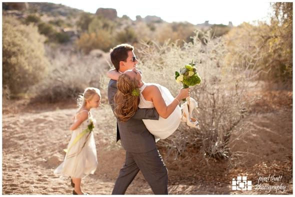 Carrying Bride - Wedding Details - Joshua Tree California Elopment