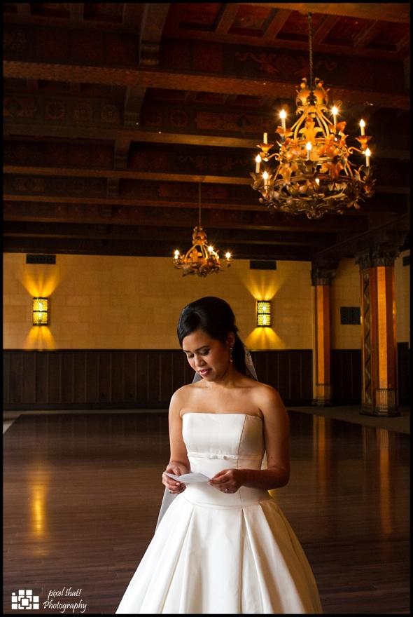 The bride, Suzy, recites her wedding vows