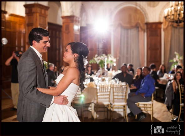A perfect 'first dance' moment between the newlywed bride & groom.