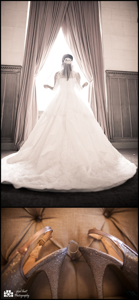 Details and moments in the bridal room.