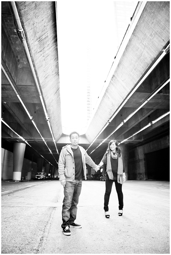 Downtown Los Angeles Engagement Session